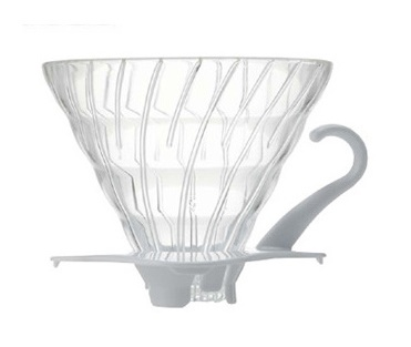 Hario V60 Glass, White Base